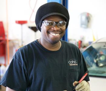 Trevor is a mechanic at Coho Auto in Manassas, VA.