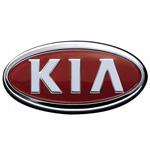 Logo for Kia. We provide service on Kia vehicles