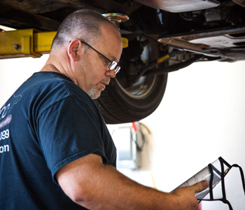Dan Howell, owner and mechanic of automotive repair shop Coho